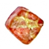 Glass Bead Cubes 8mm With Diagonal Hole Two Tone Sugar Orange/Red